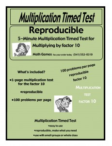Mult by 10  5 min timed test covers