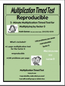 multi by 0 timed test