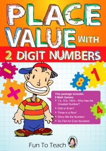2 digit place value color cover 2014 orange