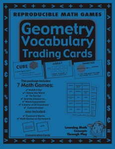 Geometry Vocabulary Trading Cards -  Math Activities And Lesson Plans