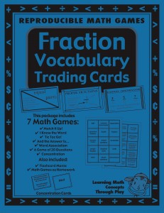Fractions - Math Vocabulary Trading Cards - Activities And Lesson Plans