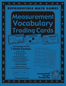 Measurement - Vocabulary Trading Cards -  Math Activities And Lesson Plans