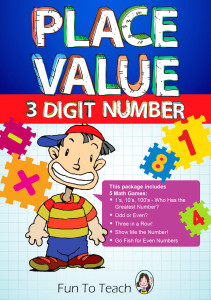 small 3 digit place value cover
