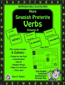more spanish preterite verbs cover