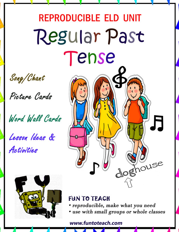 Regular past tense verb song cover