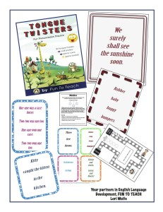 Tongue Twister Game layout